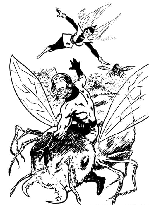 Avengers Wasp Coloring Pages : Free coloring pages of wasp marvel